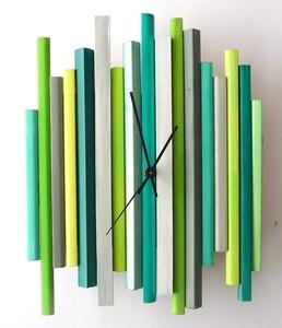 sticks sculpture clock no11 original funky modern art wall clock sculpture