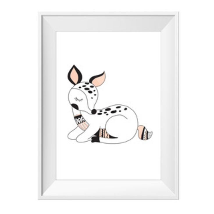 Sleeping+Fawn+|+Sizes+Available+by+Toucan+Art+Prints+on+POP.COM.AU
