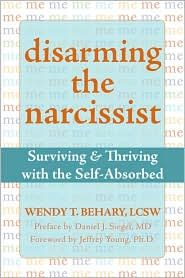 Disarming The Narcissist - I, Tufoot57, have not read this book yet. But I strongly feel that the best thing to do for yourself is to get out. Get out as fast as you can. Don't let the years go by...it only gets harder. Don't let your sympathy build up for him. He's not worth it. It has been 23 years for me and I am so broken, so self-hateful, so suicidal...I don't know what God's purpose was for putting him into my life but it destroyed the good me. I don't plan on reading the book.