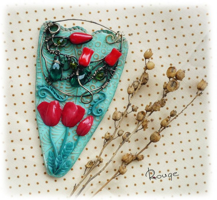 """The product - Brooch """"Tulips"""""""