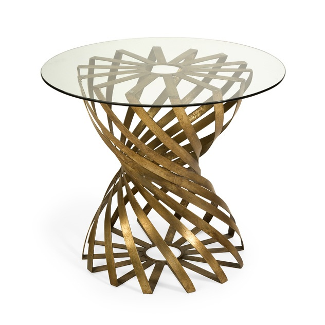 Gold Leaf Swirl Art Metal Side Table, sharing luxury designer home decor inspirations and ideas for beautiful living rooms, dinning rooms, bedrooms & bathrooms inc furniture, chandeliers, table lamps, mirrors, art, vases, trays, pillows & accessories courtesy of InStyle Decor Beverly Hills enjoy & happy pinning