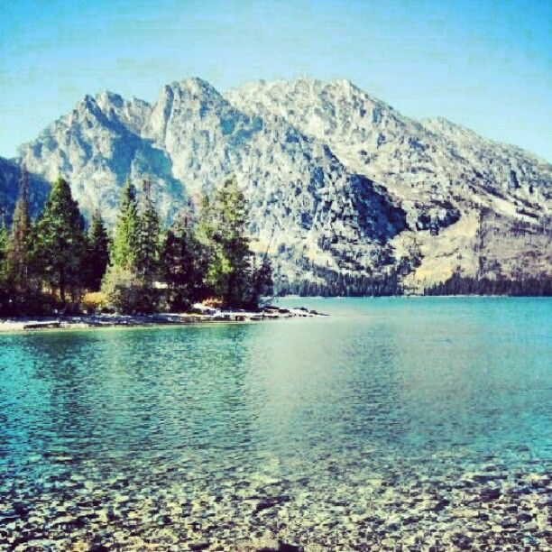 Jenny Lake in Yellow Stone National Park. CAN NOT wait to go next summer!