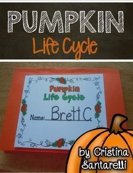 This Pumpkin Life Cycle booklet and sequencing activity are perfect for  your Halloween and Fall units! I hope you and your little ones enjoy this!  Cristina SantarelliBe sure to check out more of my SCIENCE activities!  Click here to see more SCIENCE pro