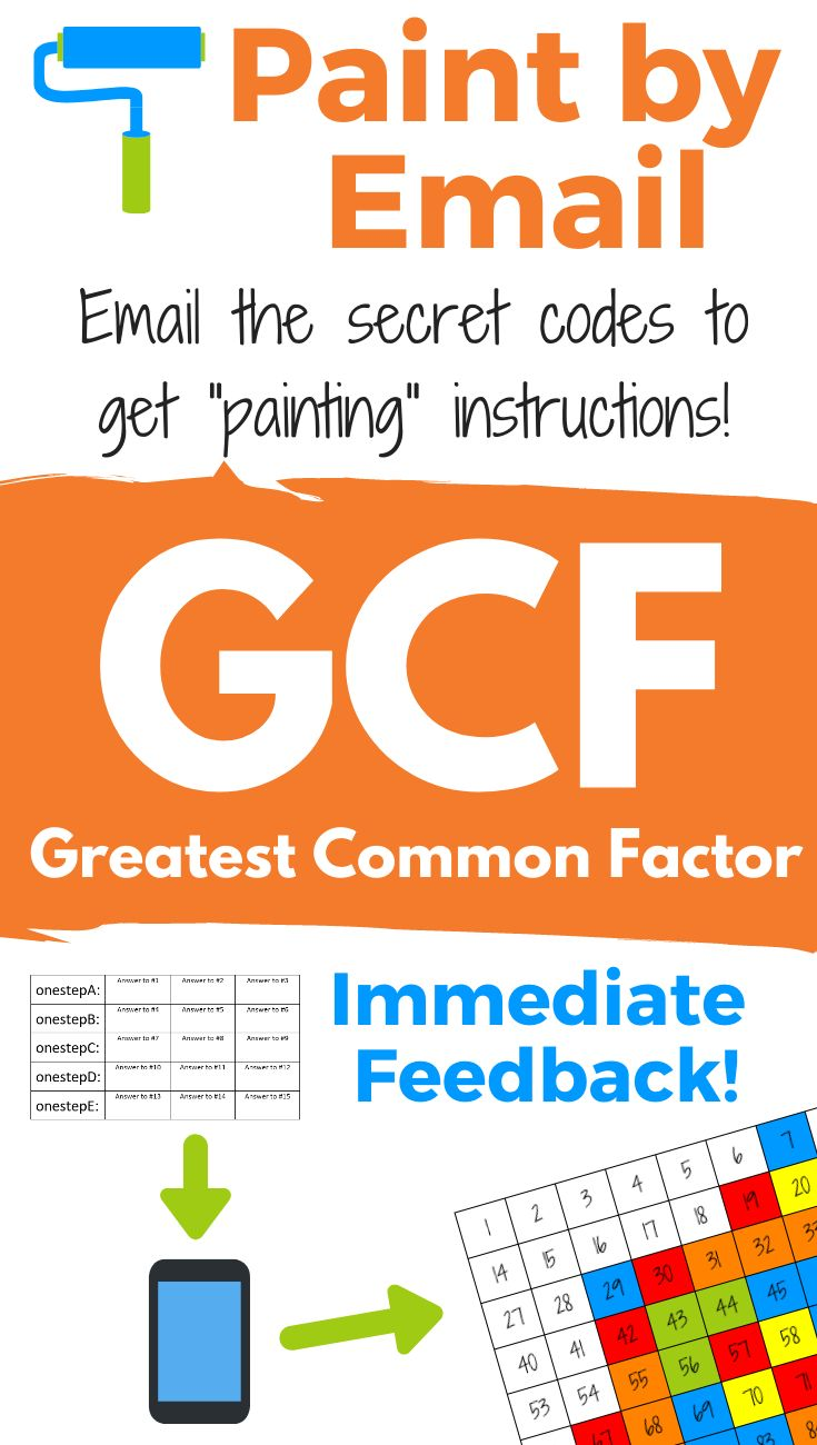 Greatest Common Factor Gcf Fun Activity Math Lessons Secondary Math Middle School Math [ 1300 x 735 Pixel ]