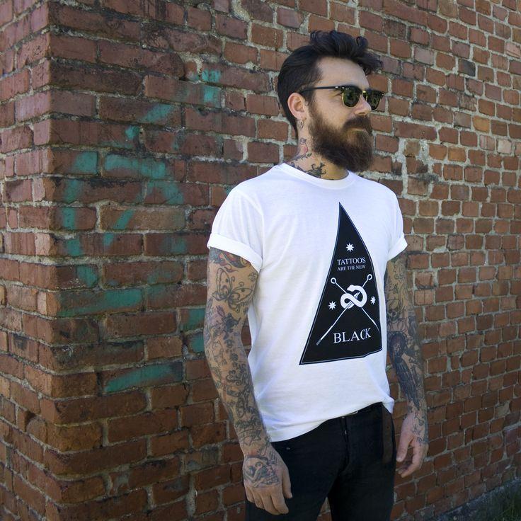 TATTOOS ARE THE NEW BLACK TEE  www.tattoosarethenewblack.bigcartel.com