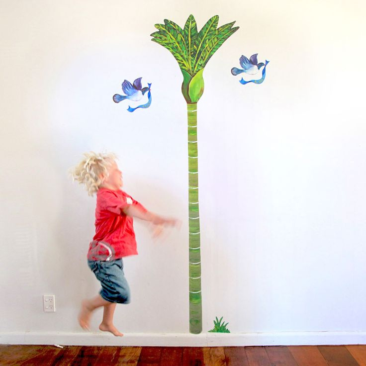 Nikau Palm Growth Chart wall decal