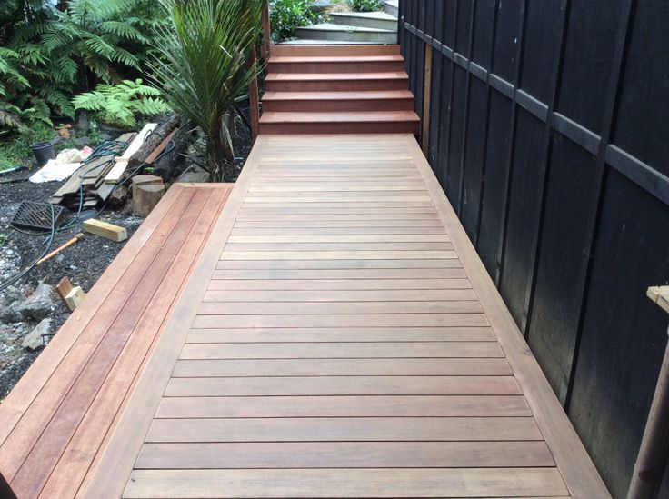 SHADOW DECK TIPS ON REFRESHING AN OLD DECK.  Here is a three year old Shadow board walk that's just been sanded and about to be oiled.