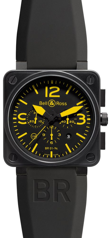 Bell & Ross Aviation BR01-94 Yellow