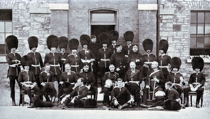 Officers of the 1st Coldstream Guards.  The Battalion fought at Belmont, Graspan, Modder River and Magersfontein in 1899