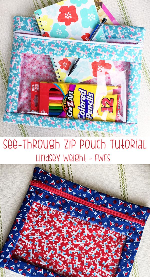 Zip Pouch Tutorial Sewing For The Munchkins Pinterest