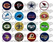 """NFL NFC Football Teams 1"""" Bottle Cap"""