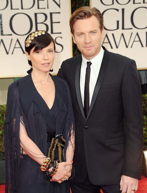 Scottish actor, Ewan McGregor with his wife Eve...