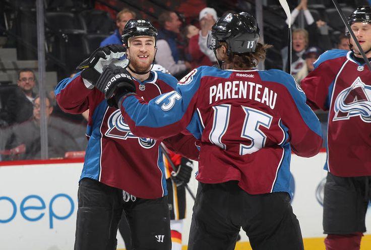 Ryan O'Reilly #90 and P.A. Parenteau #15 Colorado Avalanche