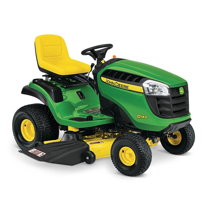John Deere D140 22-HP V-Twin Hydrostatic 48-in Riding Lawn Mower with Mulching Capability