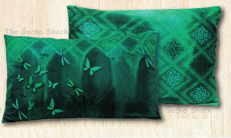 The Gecko Shack - Earthing Royal Velvet Cushion Rainforest Butterfly
