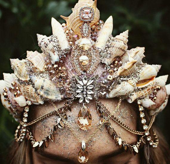 Gold swarovski crown by chelseasflowercrowns on Etsy
