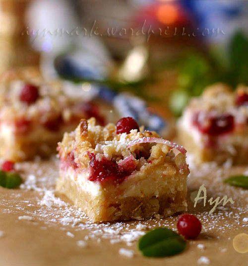 Творожно-клюквенное печенье