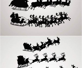 Santa Claus on a sleigh vector