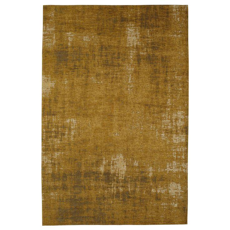 Katoenen vloerkleed, mosterdgeel, 155 x 230 cm, FEEL