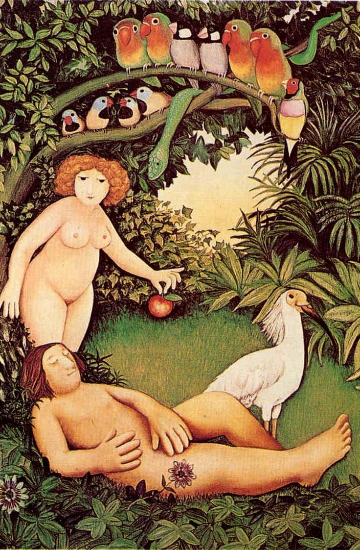 Adam And Eve by Beryl Cook