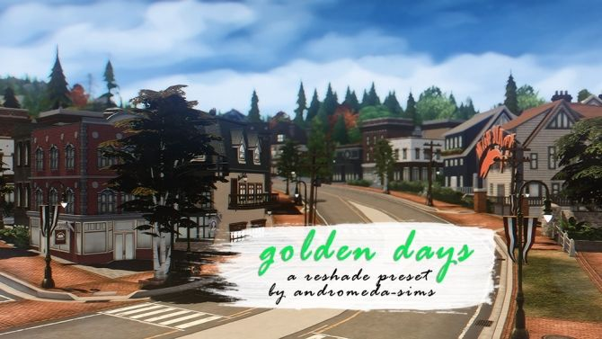 Golden days preset for reshade 3 0 at Andromeda Sims • Sims 4