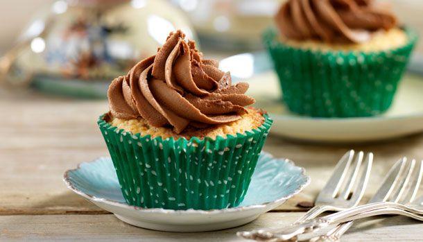 Muffins med nutella-frosting