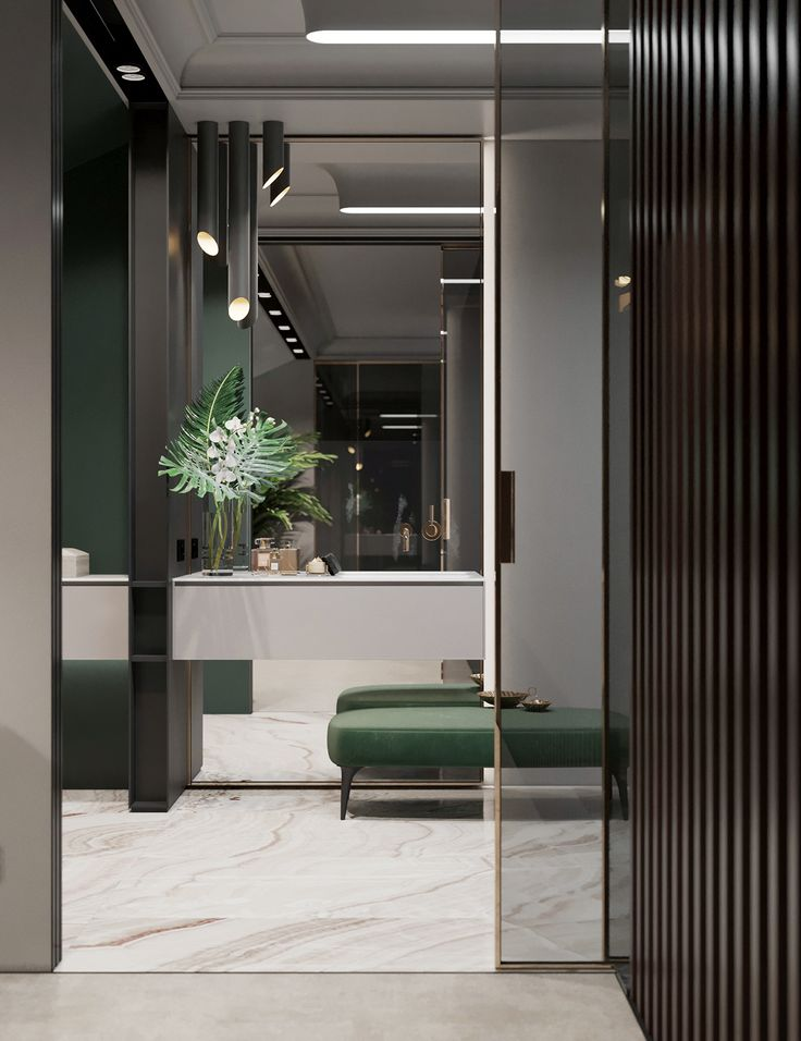 Design and visualization of the apartment on Behance