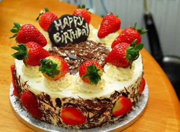 White chocolate strawberry cream gateaurecipe
