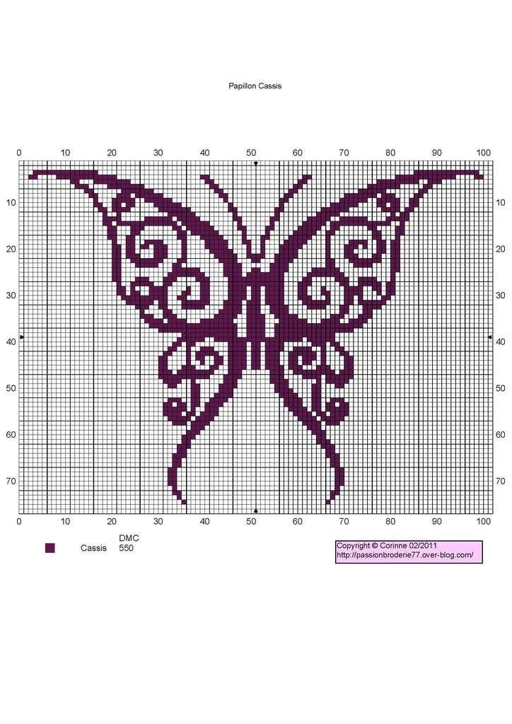 ♥ Korsstygns-Arkivet ♥: Fjärilar