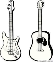 Resultado de imagen para dibujos de una guitarra electrica