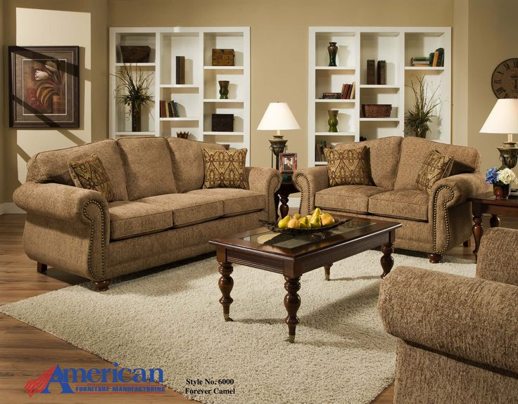 Sofa 88 X 38 , Loveseat U003d 66x38 American Forever Young CamelUpholstered  Furniture | Kutteru0027s Furniture