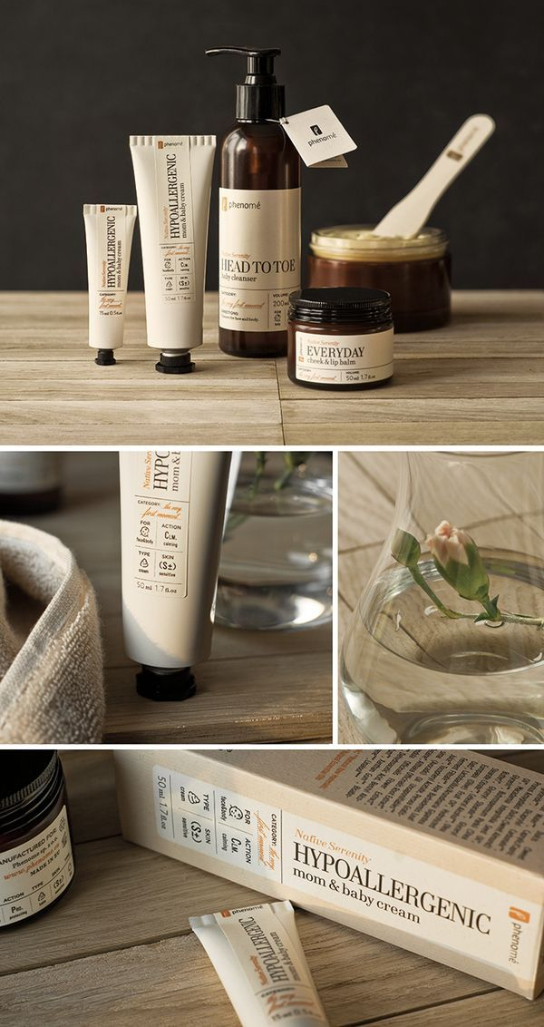 Phenome - organic skincare products on the Behance Network