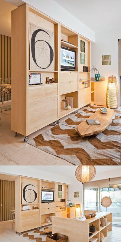 Mueble divisorio estilo Pilar de El Corral, distinguido con el Sello de Buen Diseño 2012.