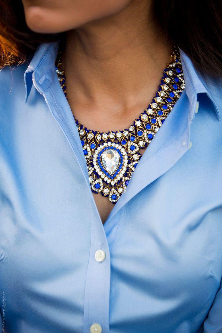 statement necklace for office - sylishlyme I agree, you can wear a statement necklace in the office, and I've got plenty www.etsy.com/shop/designsbystacylee