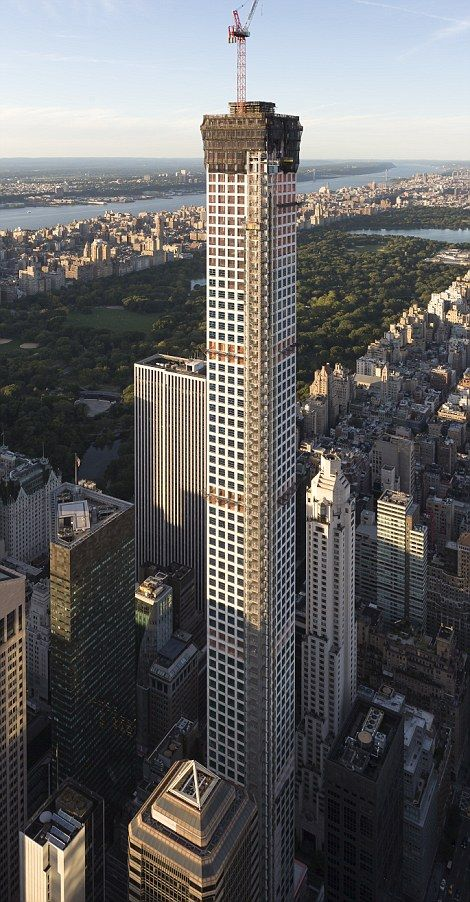 NYC. At 1,396 feet, 432 Park Avenue building , in midtown Manhattan