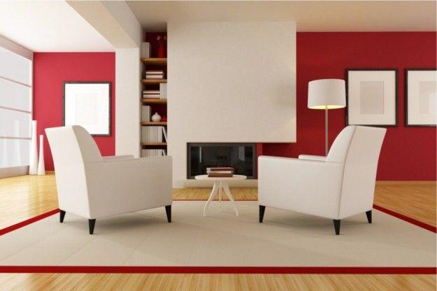 Grande+salotto+con+pareti+fucsia+e+bianco…