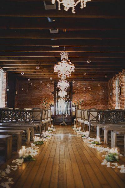 romantic wedding ceremony, photo by Sloan Photographers http://ruffledblog.com/glam-carondelet-house-wedding #ceremony #wedding