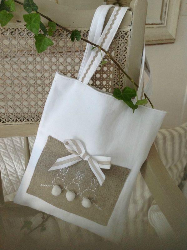 recycler des bouts de lin et faire un sac charmant
