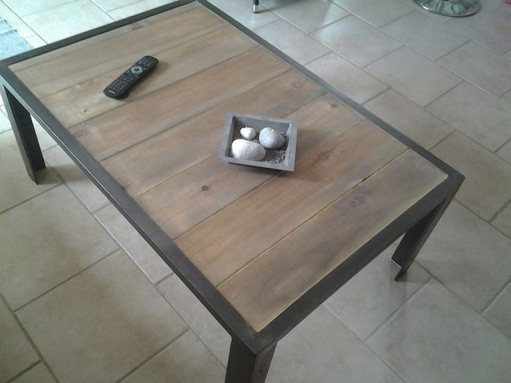 Table basse fer et bois tables magriff 39 fait maison for Table basse fait maison