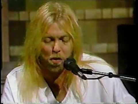 """Gregg Allman """"I'm No Angel""""-GREAT song...this is the kind of men I manage to fall for... (@ The David Letterman Show)"""