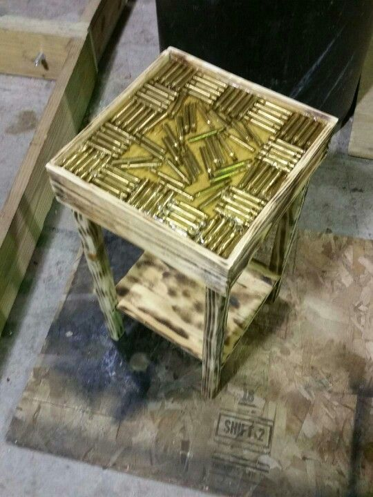 Epoxy resin table with 30-06 shells incase in the resin ...