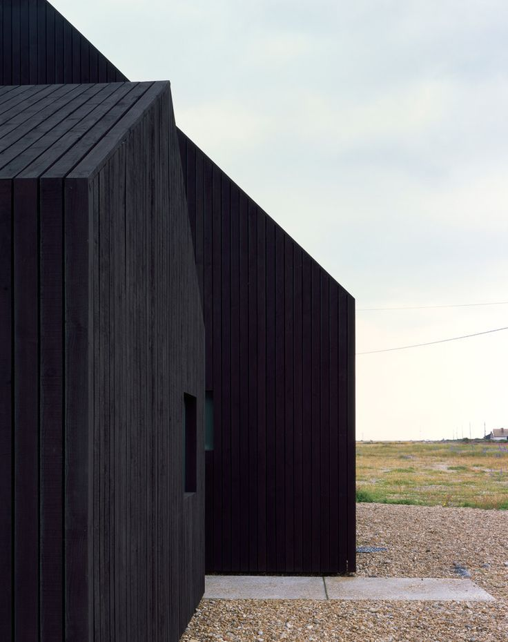 black house in a wonderful setting North Vat Dungeness by Rodic Davidson Architects.