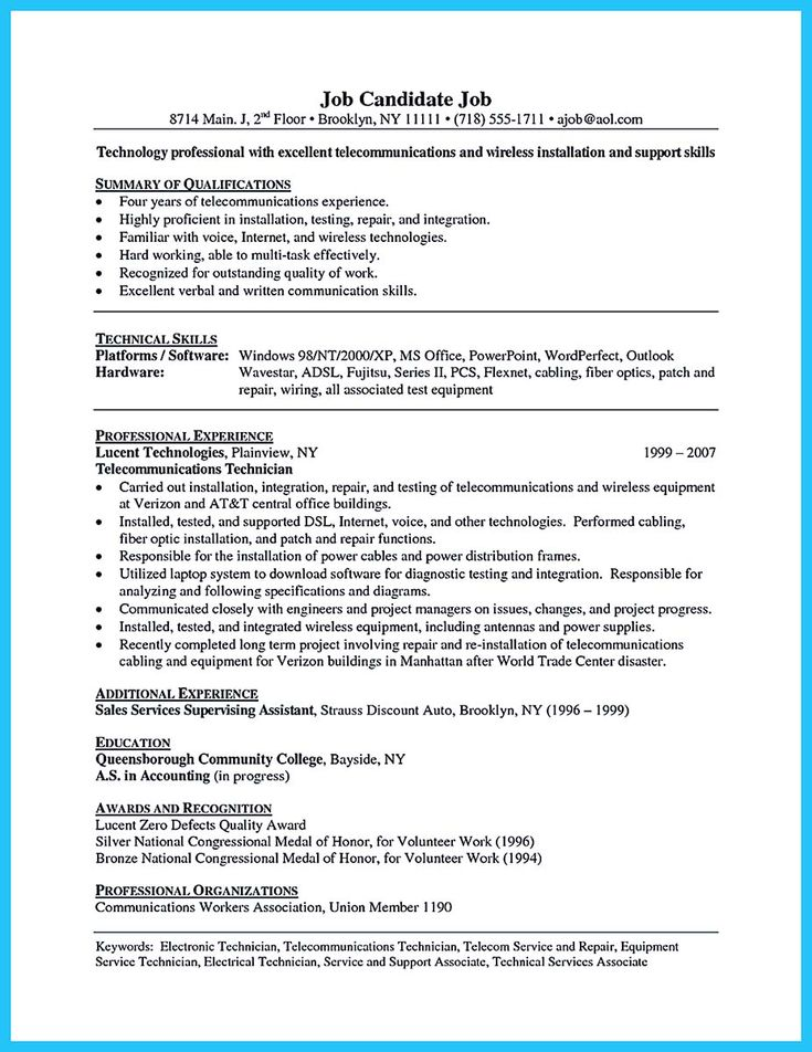 Awesome How To Make Cable Technician Resume That Is Really Perfect Check More At Http Snefci Org How To Mak Writing Lesson Plans Writing Lessons Writer Jobs