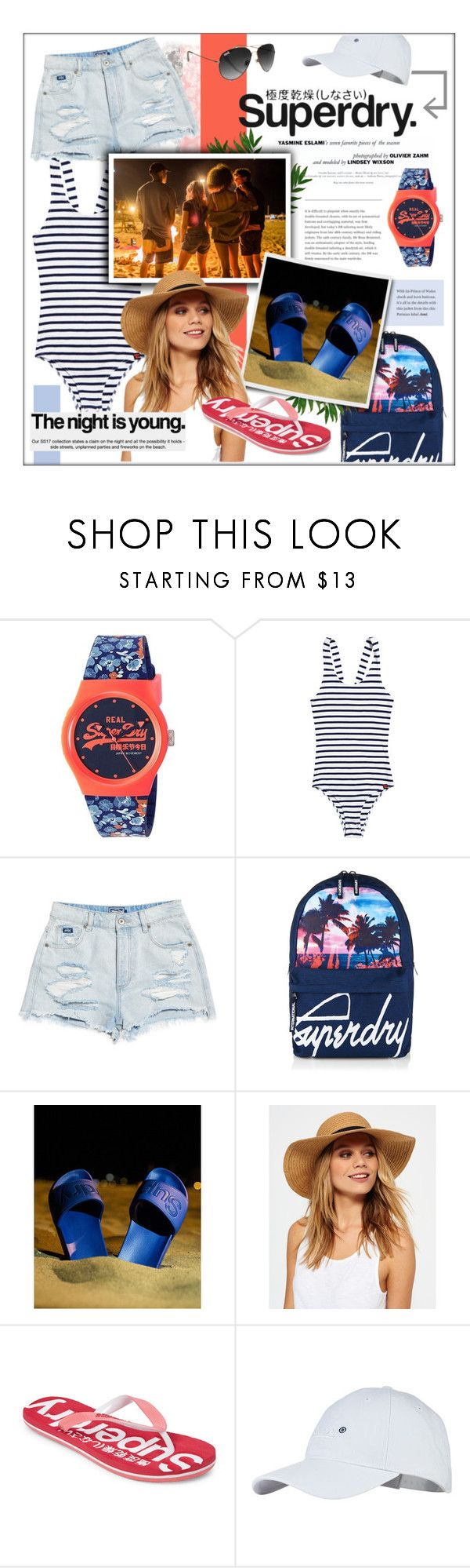 """""""Superdry Holiday Competition"""" by jenpeterson07 ❤ liked on Polyvore featuring F and Superdry"""
