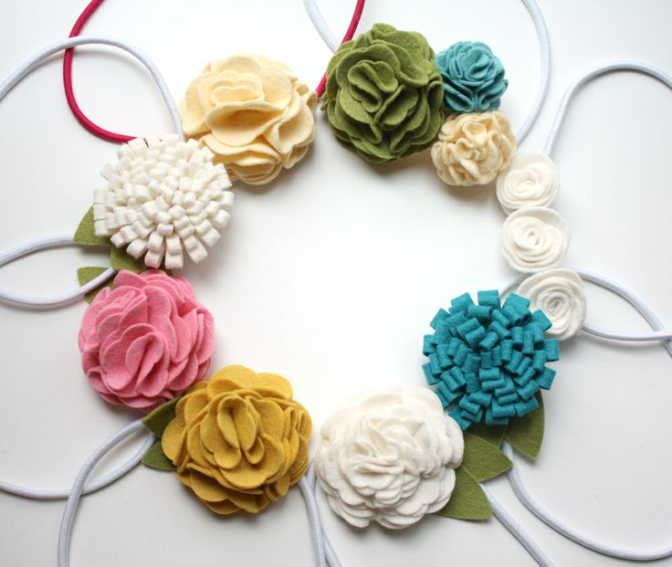 DIY - Felt hair bands, flowers and clips!    Perfect for little girls