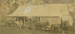 Cobb and Co. coach photographed outside the hotel in Atherton Queensland. coach photographed outside the hotel in Atherton, Queensland, 1895. John Oxley Library, State Library of Queensland. Image  6670-0001-0072