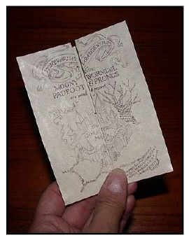 Make your own Marauder's Map (printable with folding instructions) ~8-)