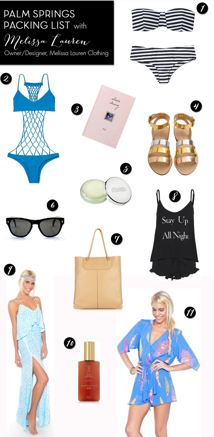 PALM SPRINGS PACKING LIST WITH MELISSA LAUREN - Palm Springs Style