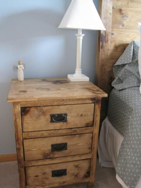 Reclaimed Wood Look Bedside Tables | Do It Yourself Home Projects from Ana White