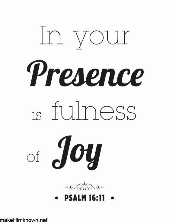 in your presence is fullness of joy